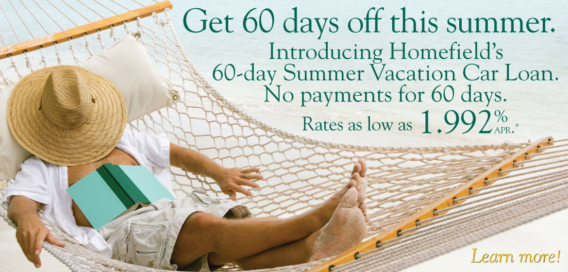 60 day summer vacation car loan rates as low as 1.992% apr.