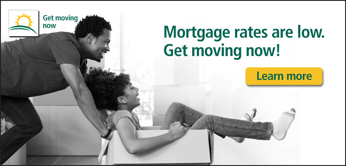 mortgage rates are low. get moving. motivated buyers, motivated lender